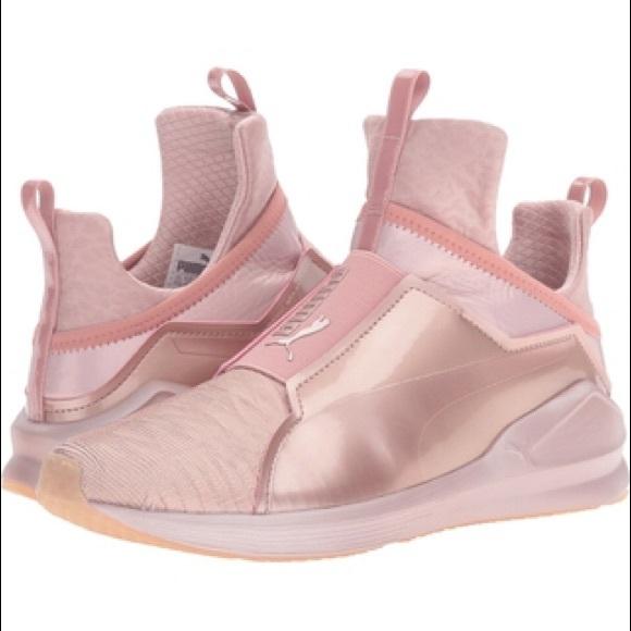 sélection premium 92c19 d207e puma fierce metallic rose gold sneakers
